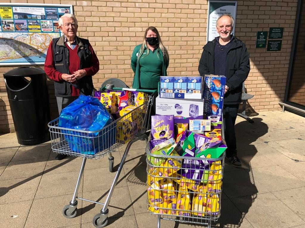 Eggcellent deliveries by Folkestone Rotary