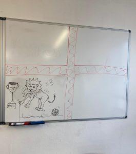 Back of the Net whiteboard
